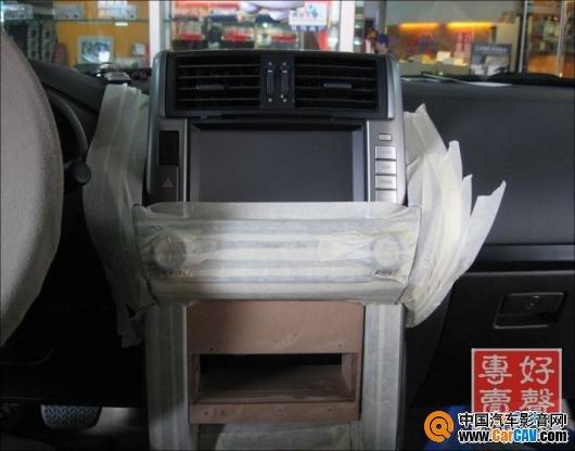 顺德永日汽车音响 丰田10款普拉多主机倒模安装分享 2 高清图片