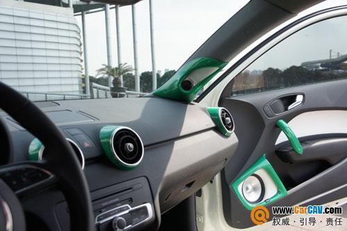 上海车之宝汽车音响 奥迪A1音响改装魔立方挑战你的视觉极限高清图片