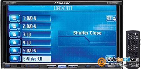 Pionner先锋AVH-P6850DVD 前置六碟6.95寸宽屏高级影音主机